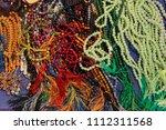 multicolored lot of tasbeeh... | Shutterstock . vector #1112311568