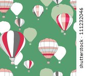 Seamless vector pattern with bright baloons