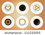 coffee cups. latte art. vector... | Shutterstock .eps vector #111232055
