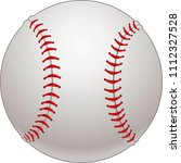 baseball game ball    Shutterstock . vector #1112327528