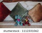 freshly laundered animal fluffy ... | Shutterstock . vector #1112331062