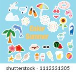 summer item icon set | Shutterstock .eps vector #1112331305