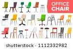 Chair Set Vector. Office Moder...