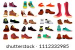 Footwear Set Vector. Stylish...