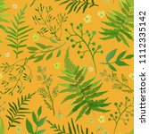 seamless pattern with leaves.... | Shutterstock .eps vector #1112335142
