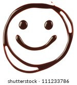 smiley face made of chocolate... | Shutterstock . vector #111233786