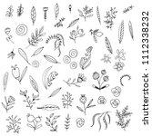 floral graphic elements big... | Shutterstock .eps vector #1112338232
