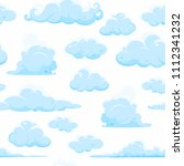 light  white sky with clouds ... | Shutterstock .eps vector #1112341232