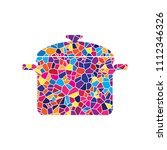 cooking pan sign. vector.... | Shutterstock .eps vector #1112346326