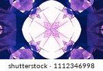 lilac kaleidoscope patterns.... | Shutterstock . vector #1112346998