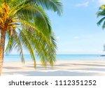 seascape of beautiful tropical... | Shutterstock . vector #1112351252