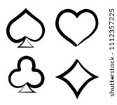 playing card brush symbols.... | Shutterstock .eps vector #1112357225