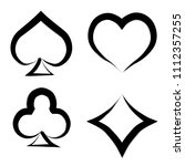 playing card brush symbols.... | Shutterstock .eps vector #1112357255