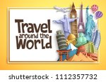 travel and tourism vector... | Shutterstock .eps vector #1112357732