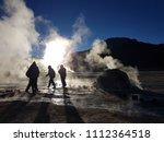 geysers del tatio  chile  ... | Shutterstock . vector #1112364518