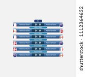 match schedule group c vector... | Shutterstock .eps vector #1112364632