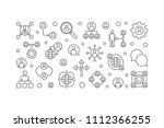 delegating vector horizontal... | Shutterstock .eps vector #1112366255