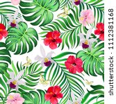 seamless tropical pattern with...   Shutterstock .eps vector #1112381168