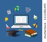 online education concept. e... | Shutterstock .eps vector #1112381495