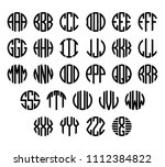 set of letters to create circle ... | Shutterstock .eps vector #1112384822