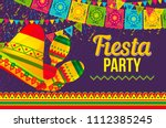 vivid flat style of poster... | Shutterstock .eps vector #1112385245