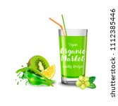 a splash of kiwi and lemon... | Shutterstock .eps vector #1112385446