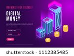 colorful design in isometry of... | Shutterstock .eps vector #1112385485