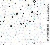 memphis pattern. seamless... | Shutterstock .eps vector #1112386202
