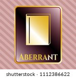 gold shiny badge with book... | Shutterstock .eps vector #1112386622