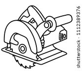 a circular saw is a power saw... | Shutterstock .eps vector #1112389376