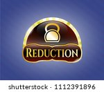 gold shiny emblem with... | Shutterstock .eps vector #1112391896