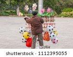 Chinese Old Man Street Vendor...