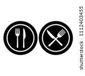 restaurant food icon | Shutterstock .eps vector #1112403455