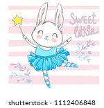 Hand Drawn Cute Rabbit  Hare...