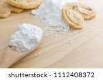 close up of tapioca starch or... | Shutterstock . vector #1112408372