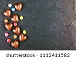 concept  chocolate and love ...   Shutterstock . vector #1112411582