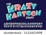 a vector alphabet in a crazy... | Shutterstock .eps vector #1112421908