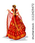 beautiful indian bride in... | Shutterstock .eps vector #1112425472