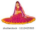 beautiful indian bride in... | Shutterstock .eps vector #1112425505