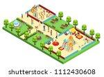 isometric amusement park... | Shutterstock .eps vector #1112430608