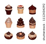 set of desserts. icons   Shutterstock .eps vector #1112434292