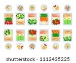 vector illustration of meal... | Shutterstock .eps vector #1112435225