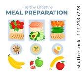 vector illustration of meal... | Shutterstock .eps vector #1112435228