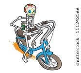 skeleton on a bike with a beer. | Shutterstock .eps vector #111243566
