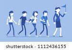 school group excursion....   Shutterstock .eps vector #1112436155
