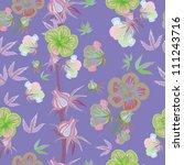 floral seamless pattern   Shutterstock .eps vector #111243716