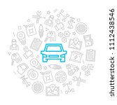 set of vector car service and... | Shutterstock .eps vector #1112438546