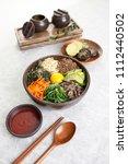 korean food  bibimbap   Shutterstock . vector #1112440502