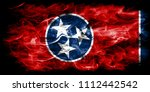 tennessee state smoke flag ...   Shutterstock . vector #1112442542