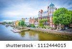 view from hammersmith bridge of ... | Shutterstock . vector #1112444015